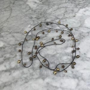 Jewelry - Silk Cord and Bead Wrap Necklace